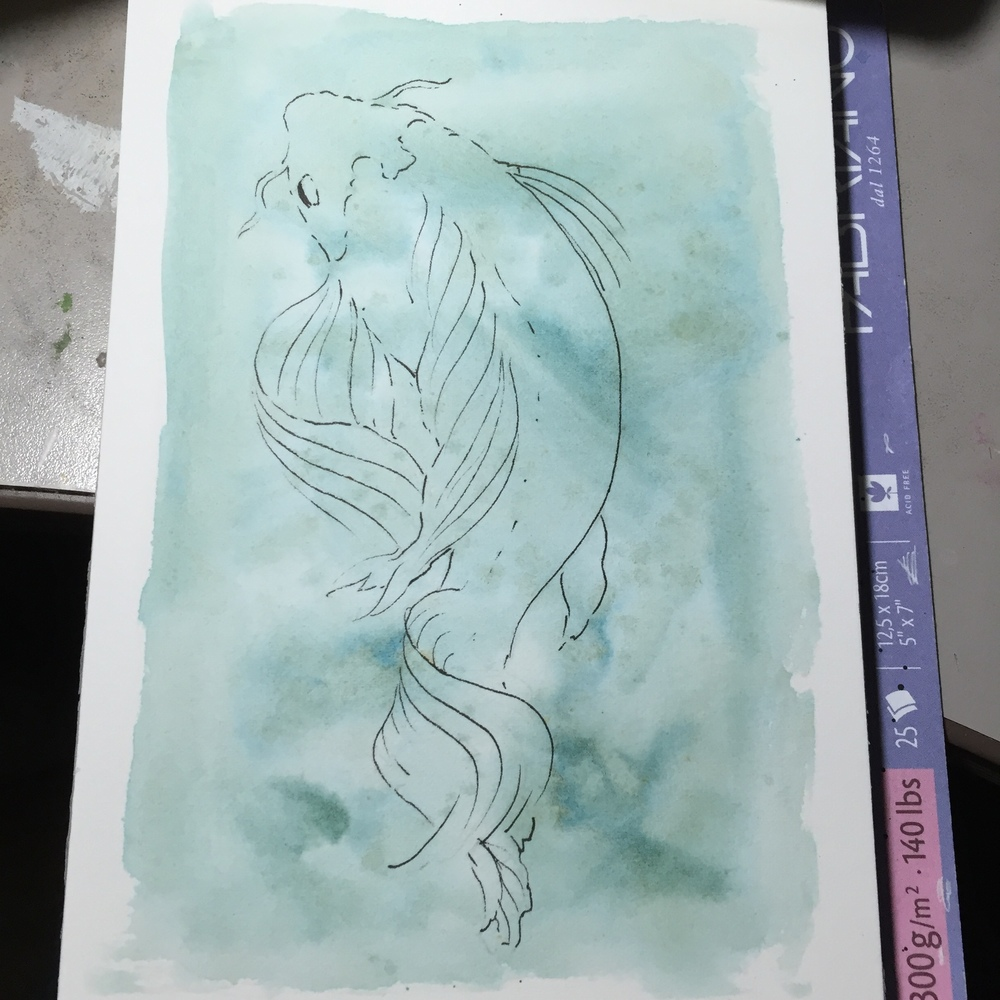 Koi sketch in progress