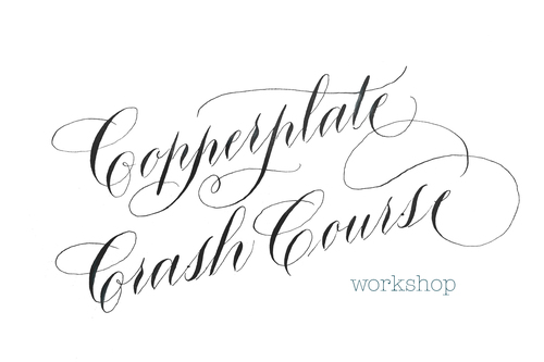 Copperplate Crash Course Calligraphy For Site