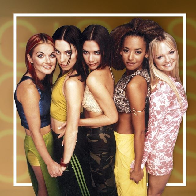 """Time to spice up your life! The first post in our new blog series on women in music highlights one of the most legendary female groups of all time: The Spice Girls! ✨ • Head on over to our blog """"The Readout"""" to check it out! (link in bio) • #thespicegirls #therealkscm #sierracollege #rocklin #sacramento #collegeradio"""
