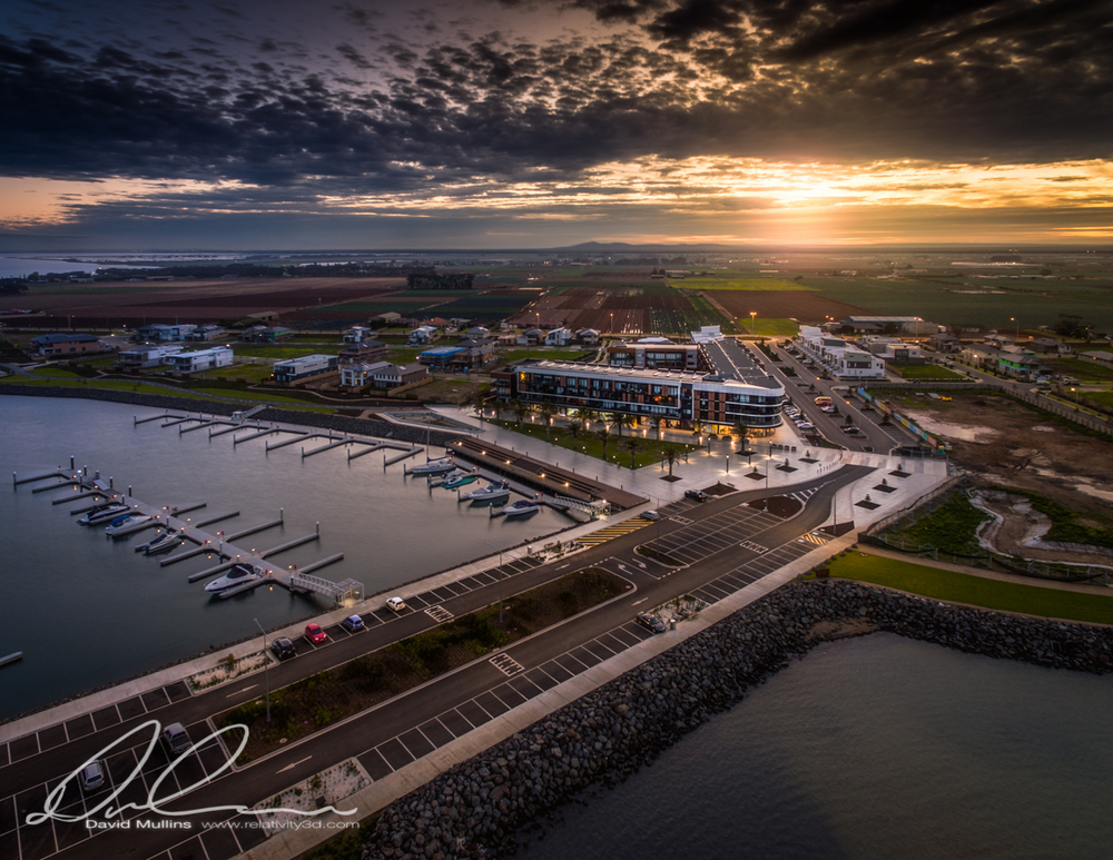 Sunset over Wyndham Harbour