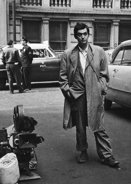 cinephilearchive :     Stanley Kubrick during the filming of  Killer's Kiss  in 1955.