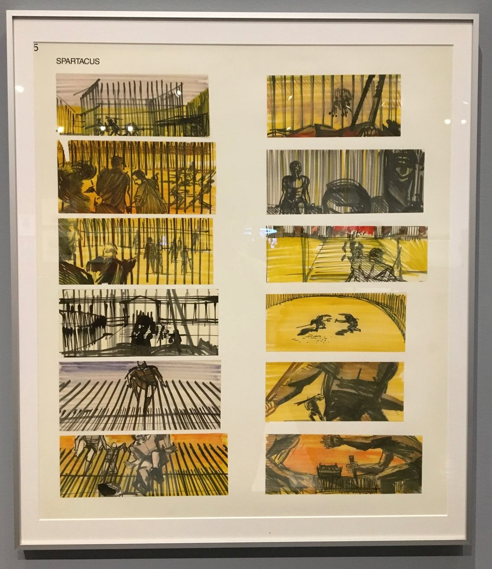 Spartacus storyboards by Saul Bass