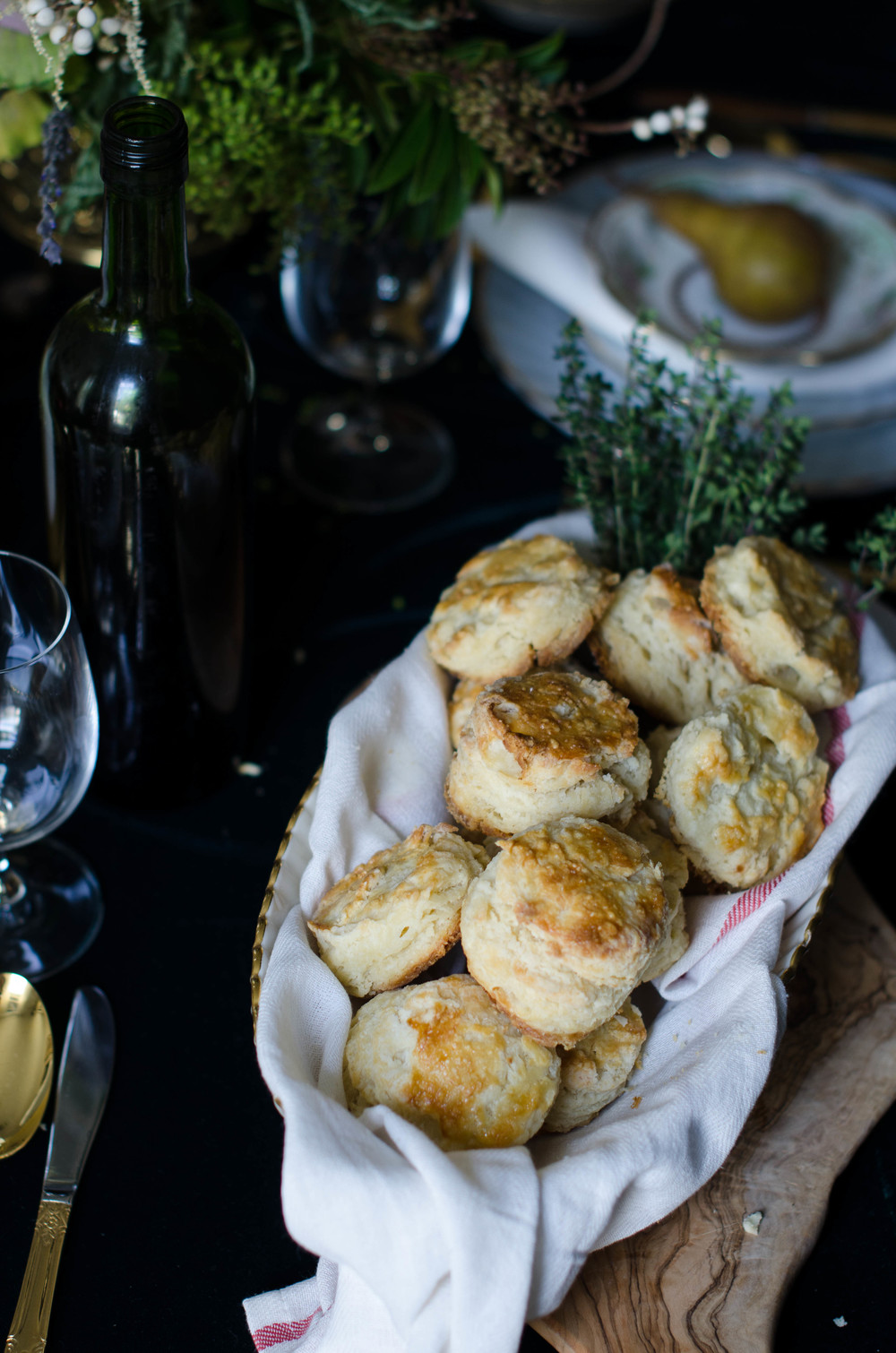 Warm flaky Buttermilk Biscuits are a Thanksgiving essential