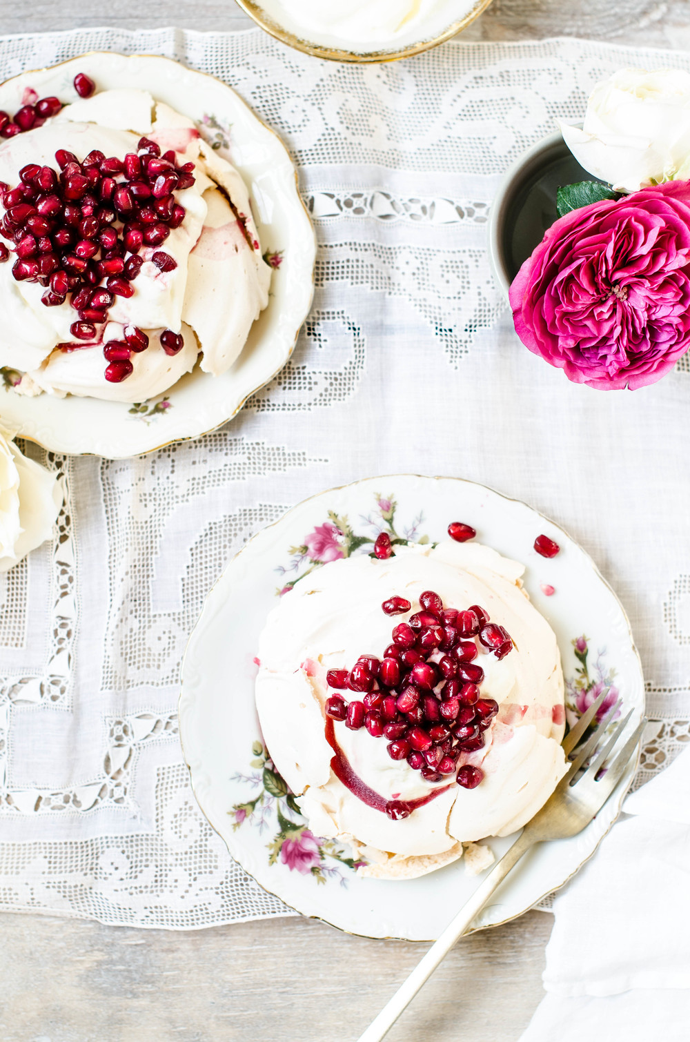 Pomegranate Rose Meringues, ROSE & IVY Journal