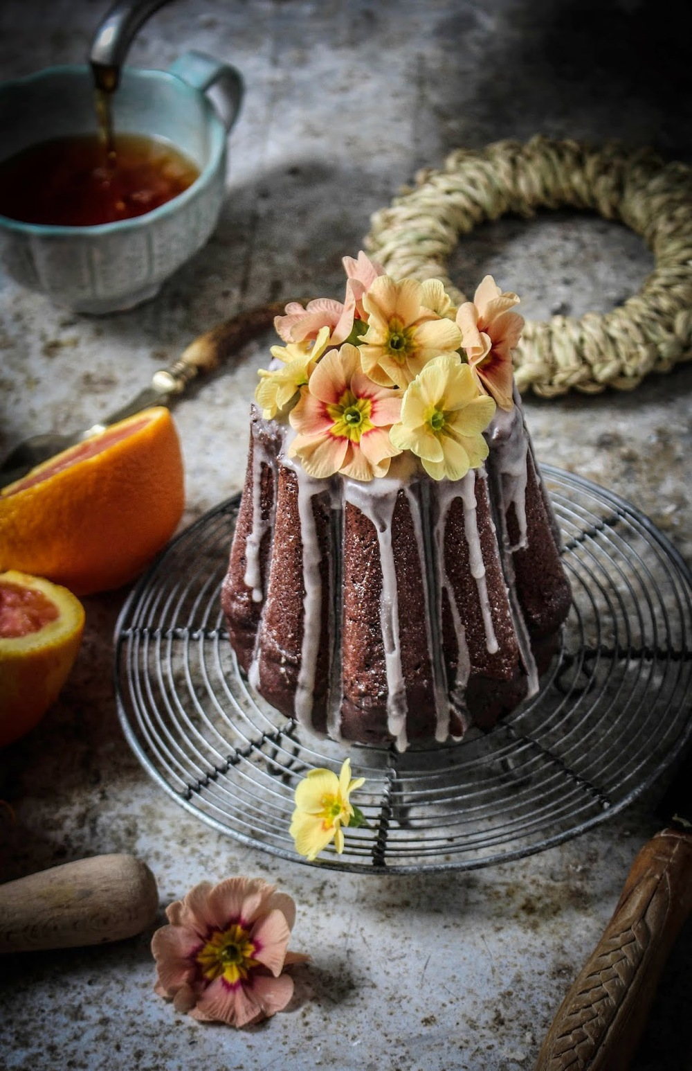Blood Orange Chocolate Cake with Cocoa Nibs, Twigg Studios