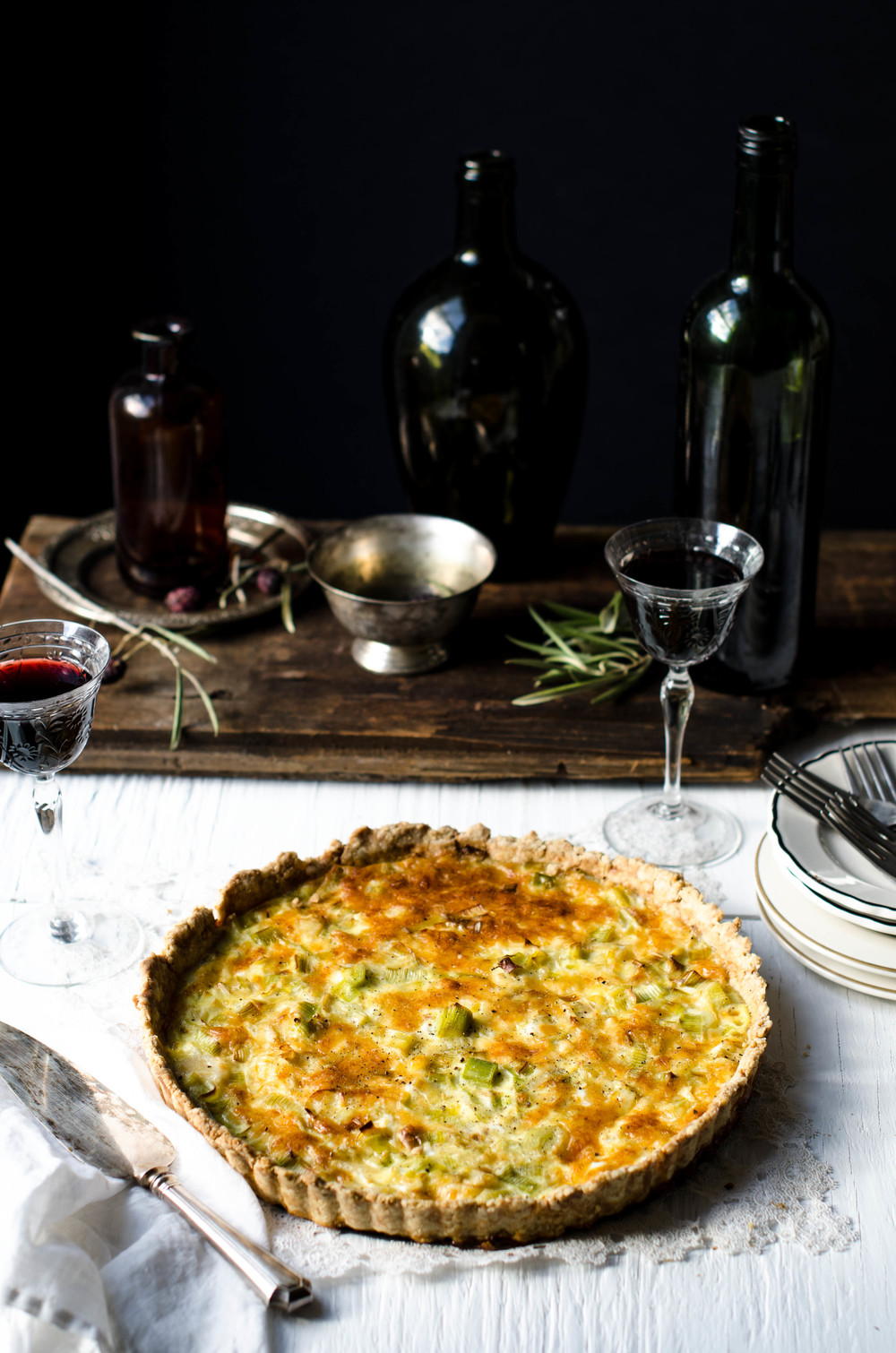 ROSE & IVY Journal Leek & Gruyere Quiche
