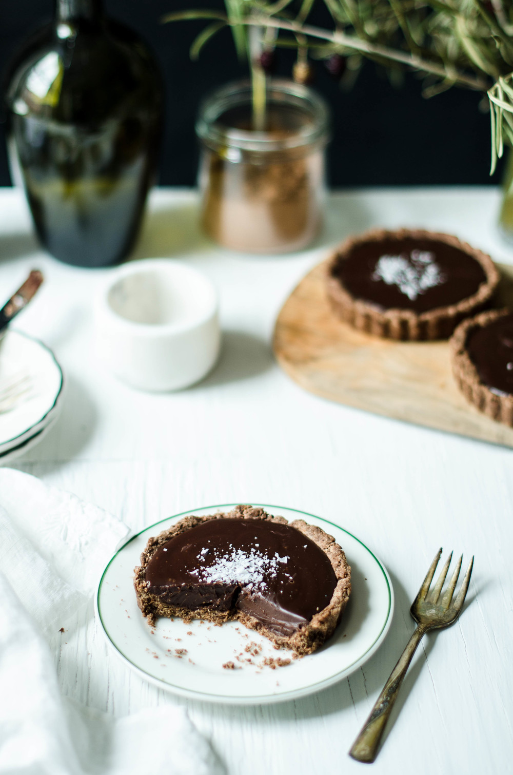 ROSE & IVY JOURNAL CHOCOLATE GANACHE TART