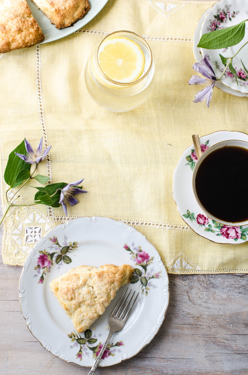 rose & ivy journal sugared lemon scones