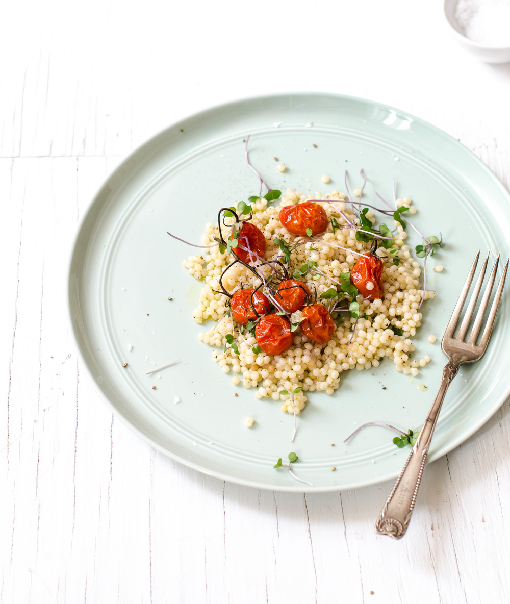 ROSE & IVY Journal Couscous Salad with Roasted Tomatoes & Greens