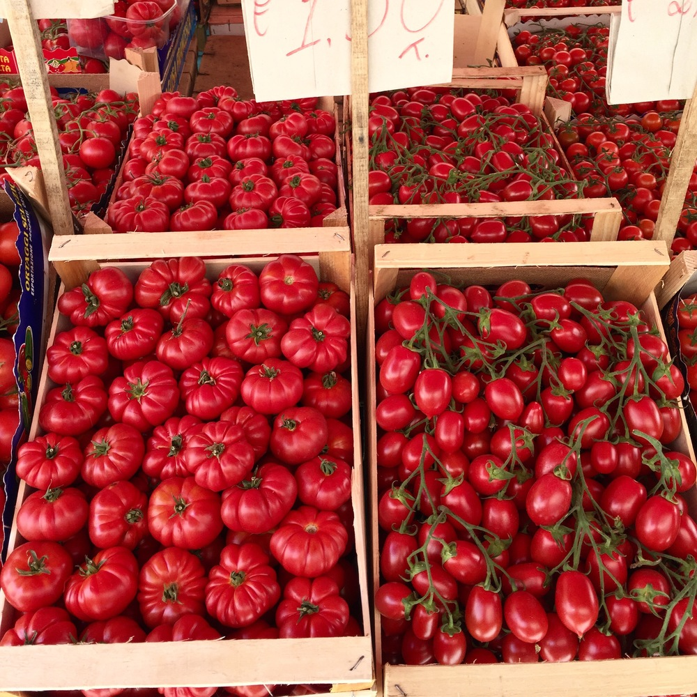 The tomatoes in Sicily look and taste nothing like anything that I have ever tasted, pure heaven