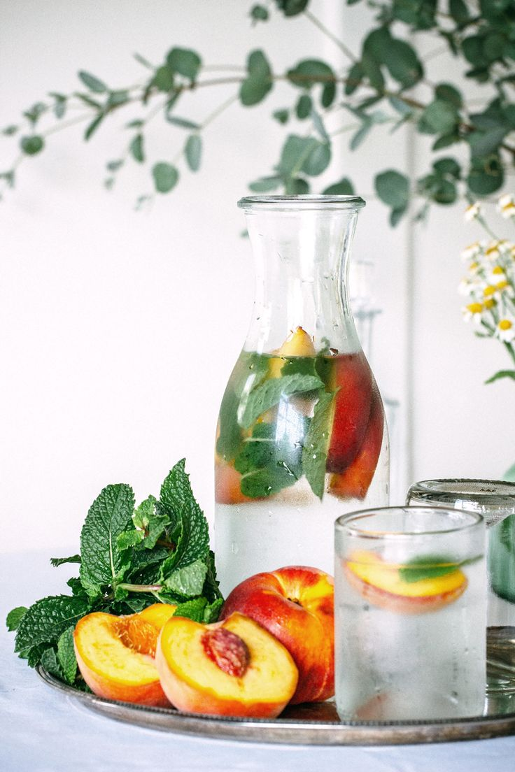 Peach Mint Water via The Artful Desperado
