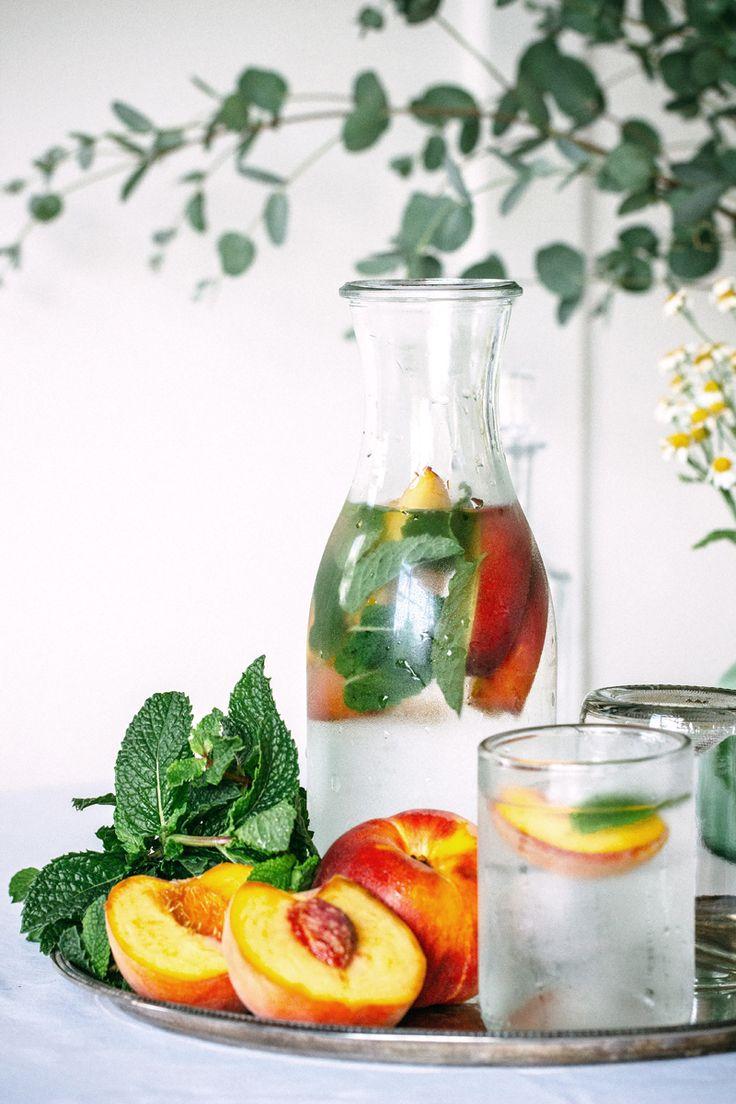 Peach Mint Water via  The Artful Desperado