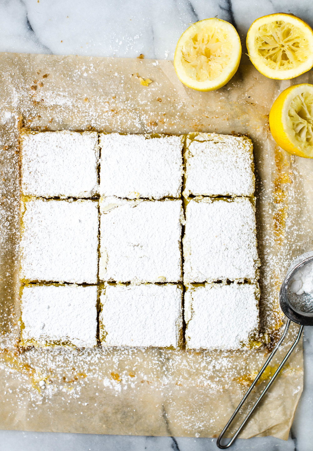 ROSE & IVY Journal Lemon Bars with Browned Butter Shortbread Crust