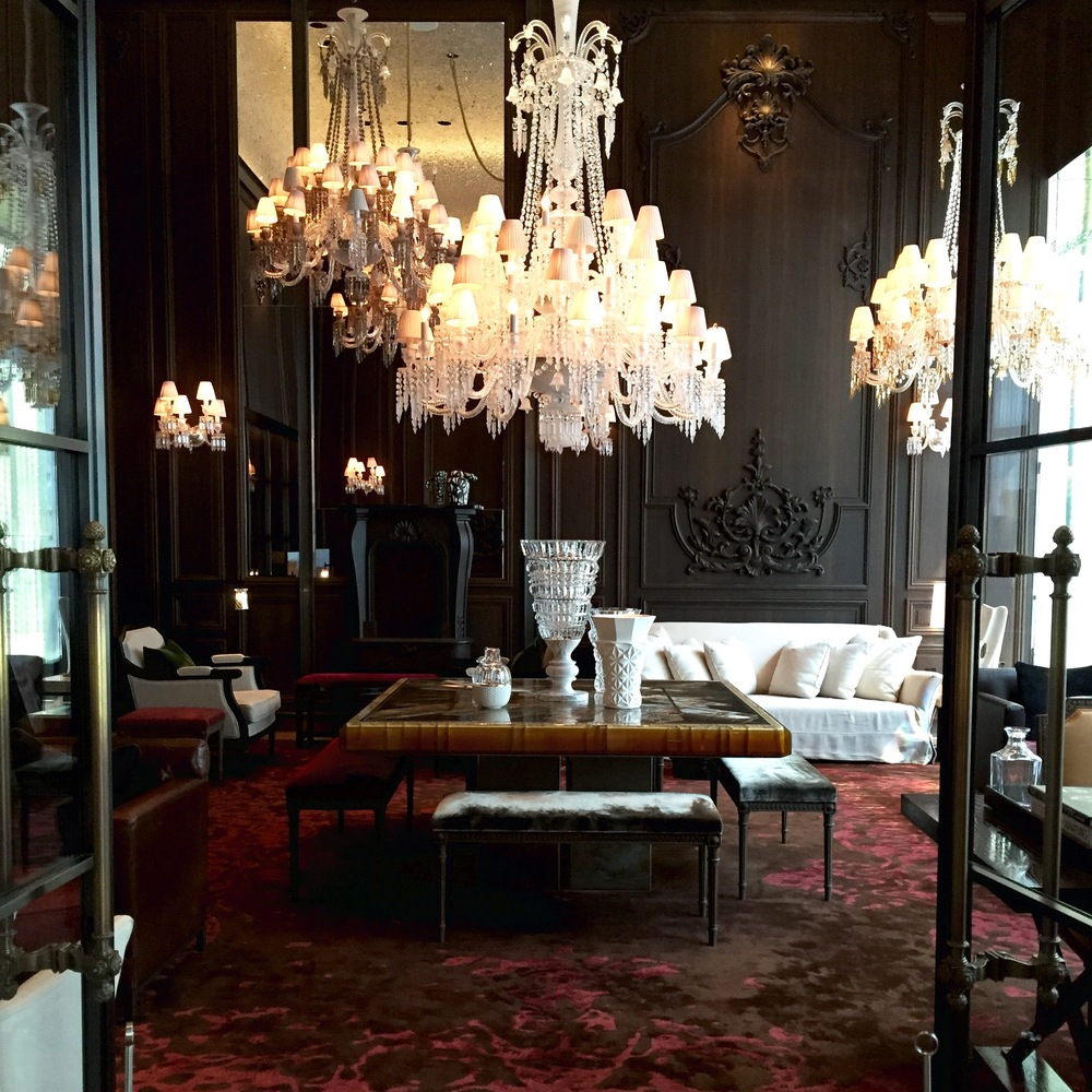 The  Baccarat Hotel  is just jaw-dropping