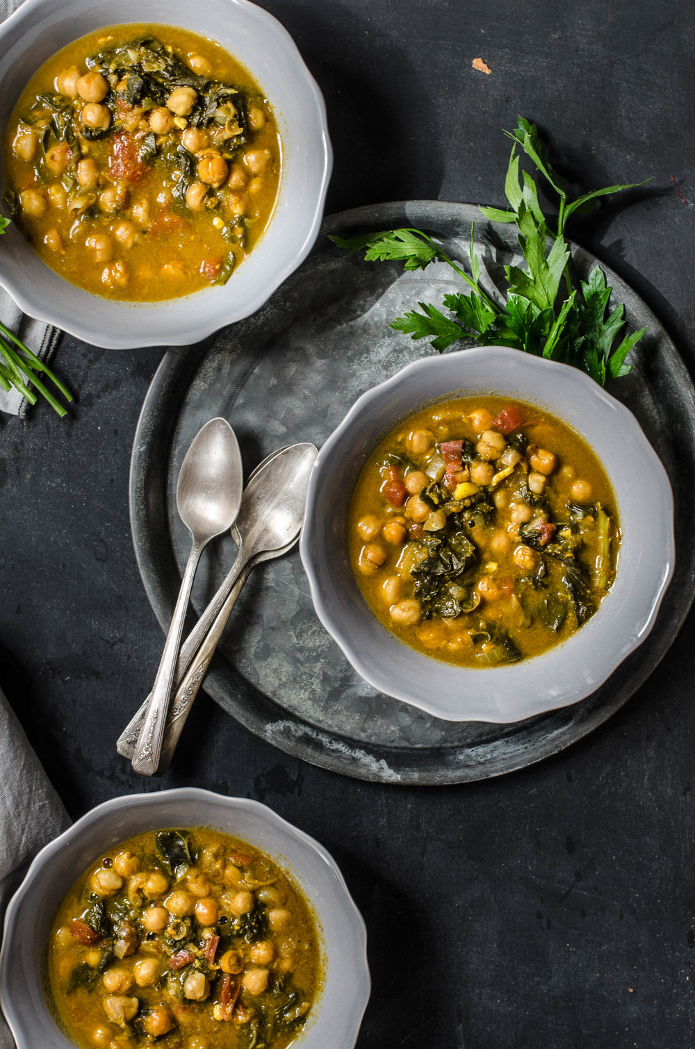 ROSE & IVY Journal Chickpea Stew with Swiss Char