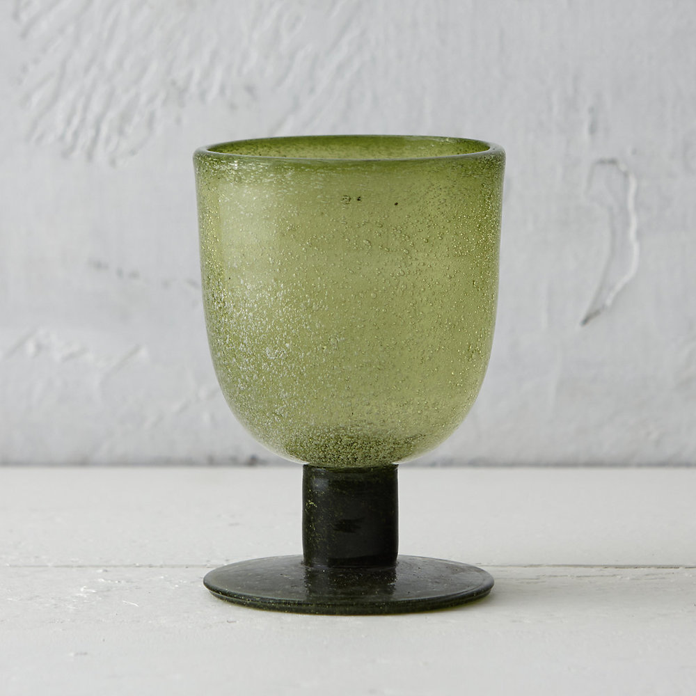 Bubble Glass Goblet