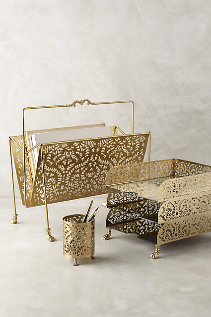 ROSE &IVY Journal Currently Loving Gilded Desk Accessories