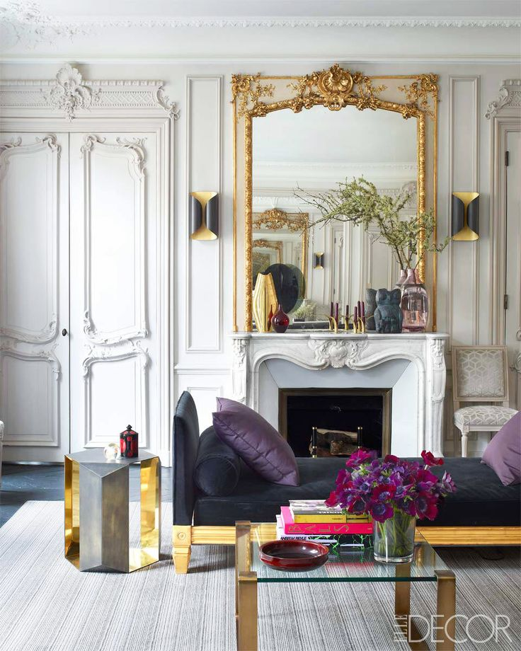 Crown molding would be considered the norm and even gilding, but first things first!