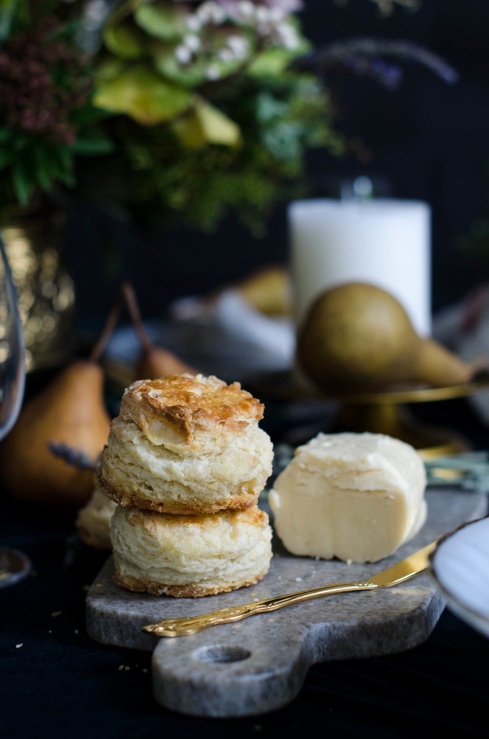 Flakey Buttermilk Biscuits with Salted Maple Butter