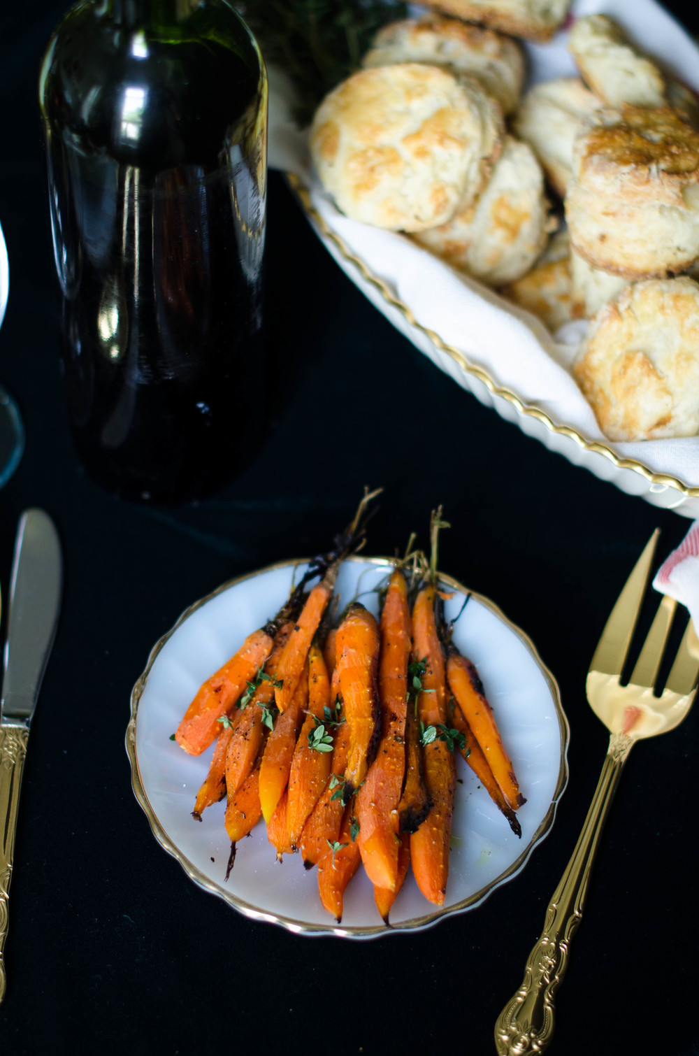 Maple Glazed Carrots with Herbs