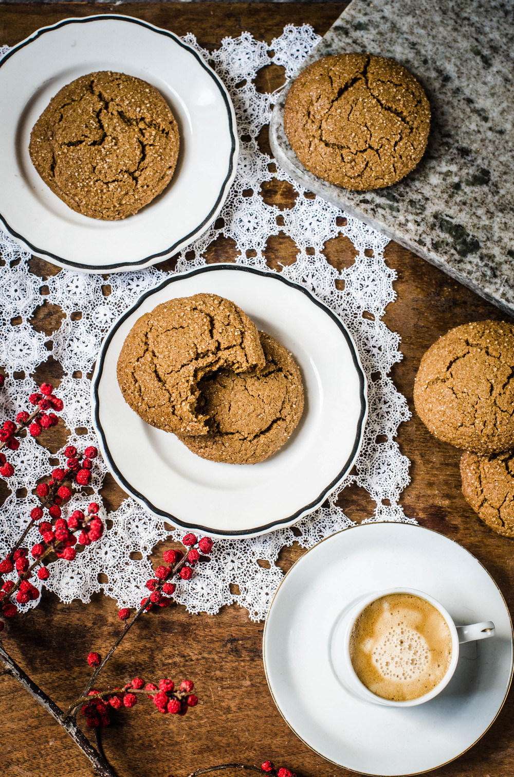 ROSE & IVY Journal Chewy Ginger Molasses Cookies