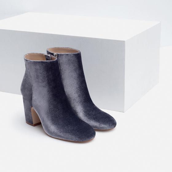 ROSE & IVY Journal Currently Loving Zara High Heel Velvet Boots