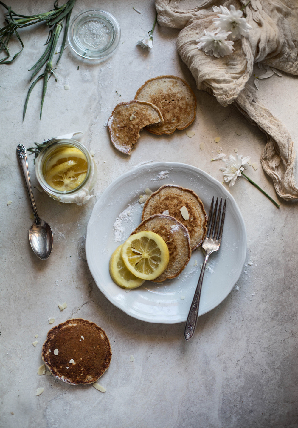 Sourdough Lemony Cinnamon Pancakes, via Hortus Natural Cooking