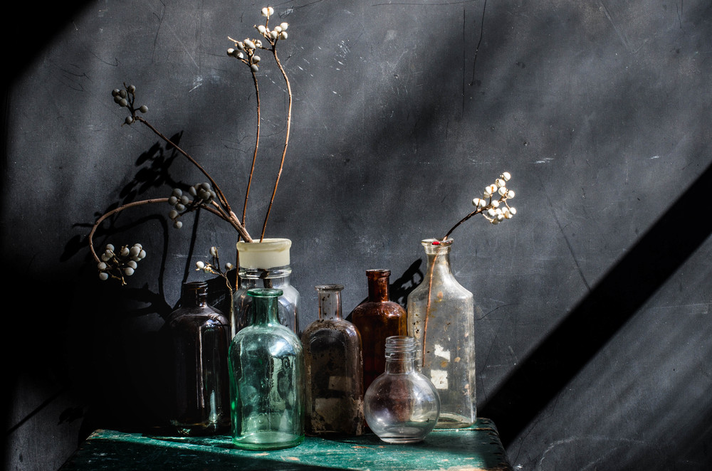 ROSE & IVY Journal Collecting Old Bottles