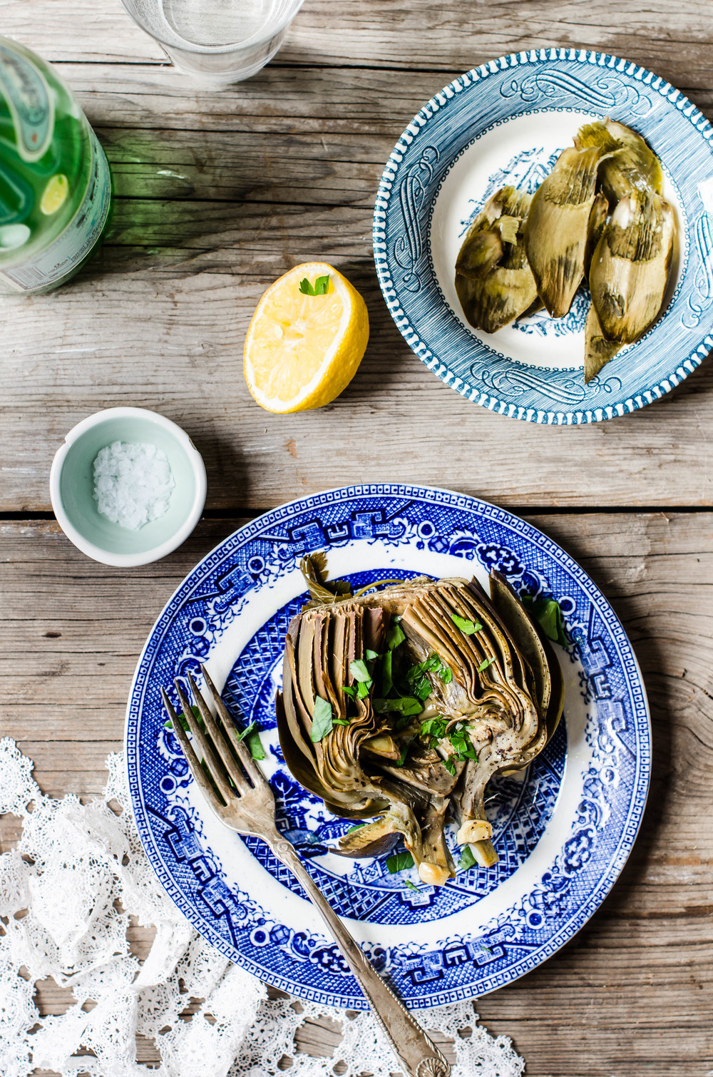 ROSE & IVY Journal Braised Artichokes with Lemon, Garlic and Parsley