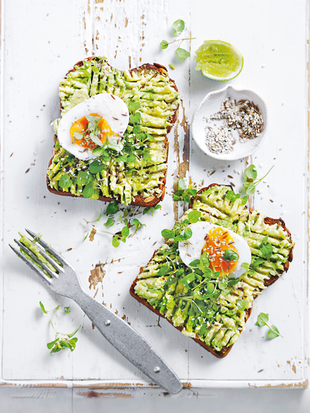 Smashed Avocado Toast with Soft Boiled Egg via Donna Hay