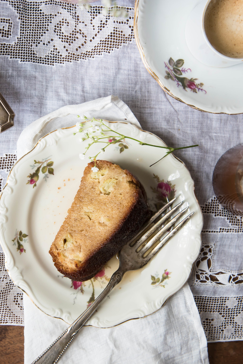 ROSE & IVY Journal Rhubarb Olive Oil Cake Gluten Free