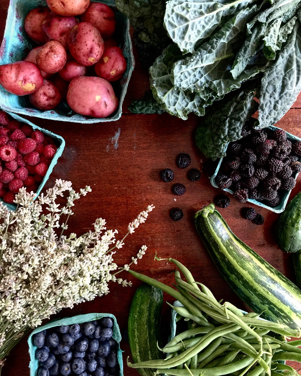 The farmers market is exploding right now, here is just some of the bounty