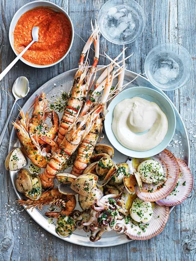 Chargrilled Sea Food Platter via Donna Hay