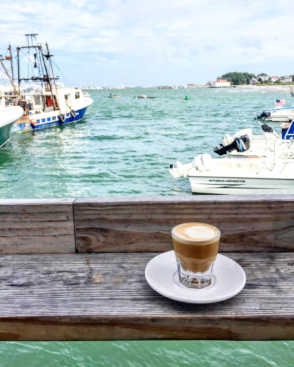 Cortado with a view in Scituate, MA