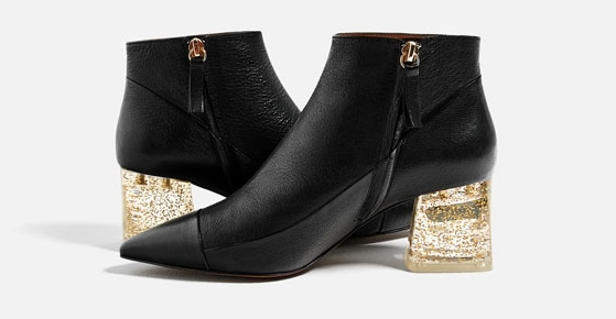 ROSE & IVY Journal Currently Coveting Zara's Gold Sparkle Boots