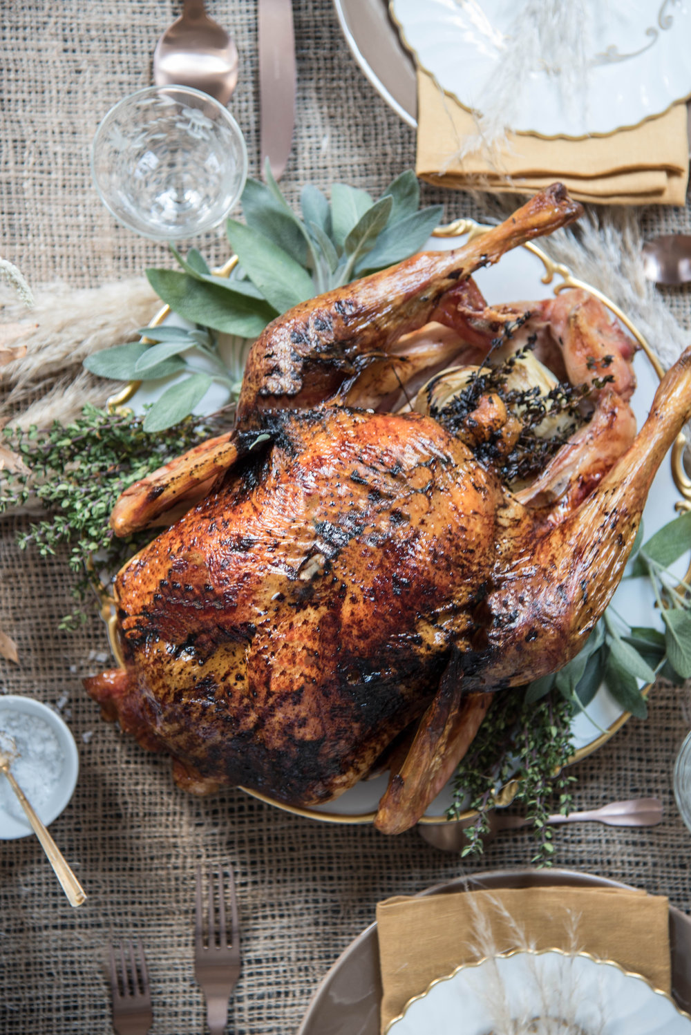 ROSE & IVY Journal A Harvest Table Recipe | Cider Glazed Turkey with Thyme and Sage