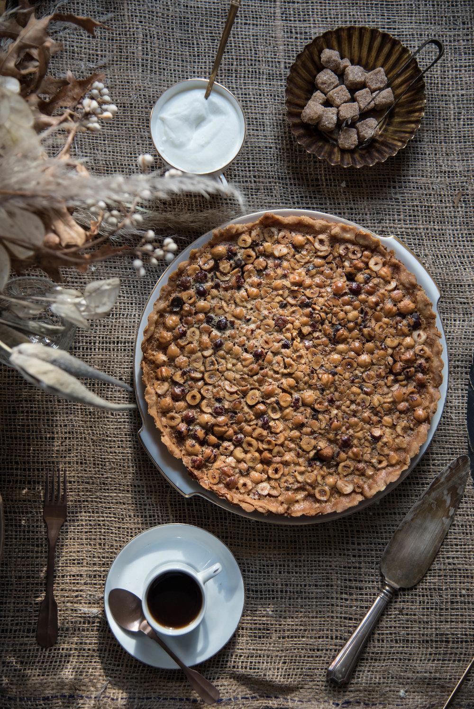 ROSE & IVY Journal A Harvest Table | Hazelnut Caramel Rosemary Tart
