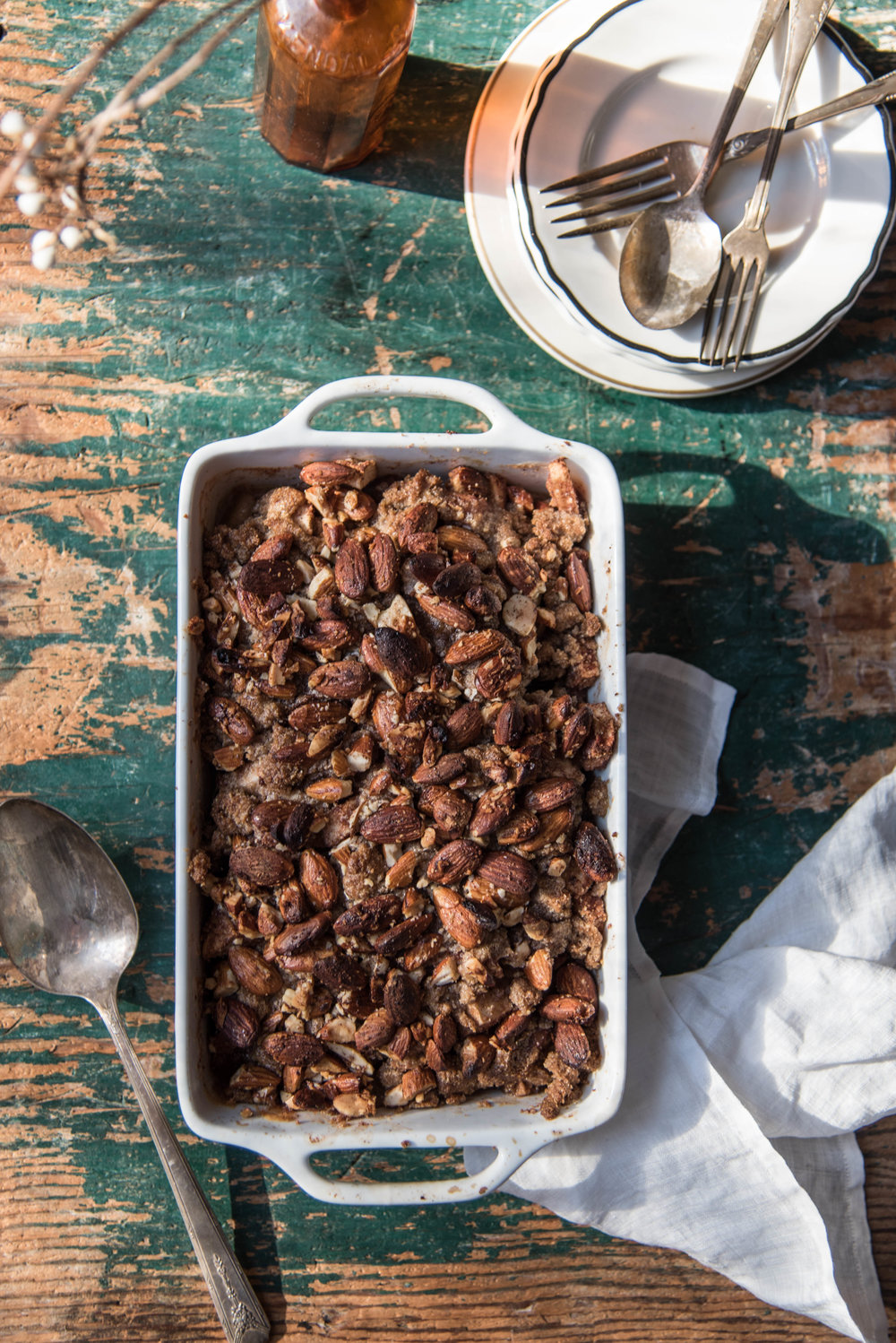 ROSE & IVY Journal Apple & Spiced Almond Crumble