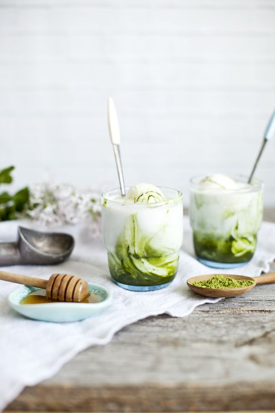 Matcha Kefir Lime Ice Cream, via Emilie Murmure