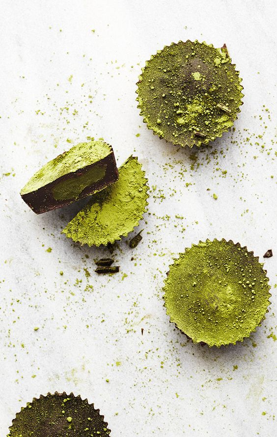 Matcha Coconut Butter Cups, via Sweet Potato Soul