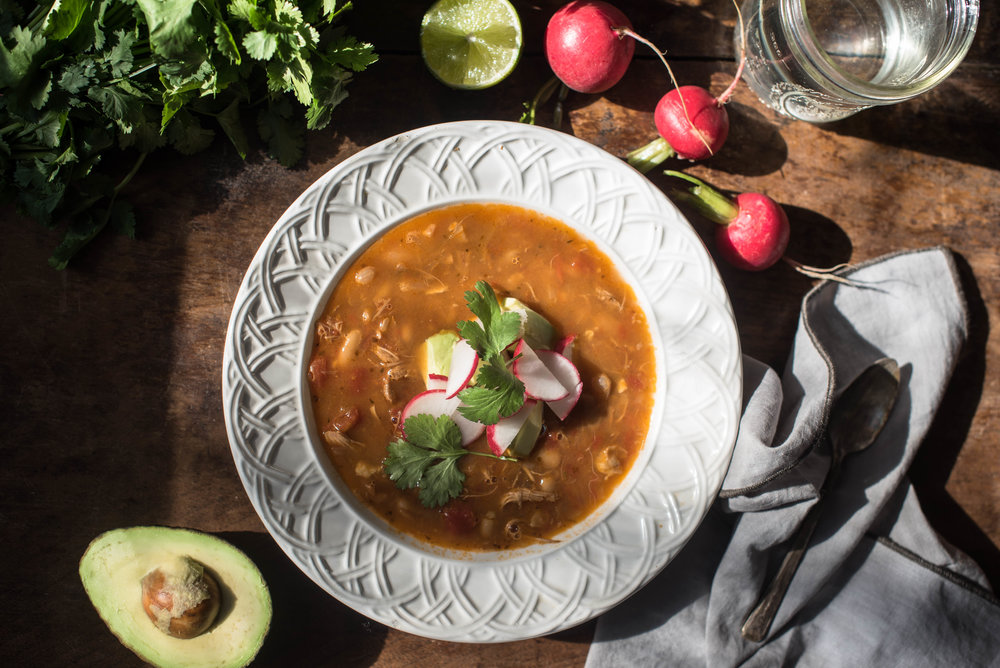 ROSE & IVY Journal Mexican Spiced White Bean & Chicken Soup