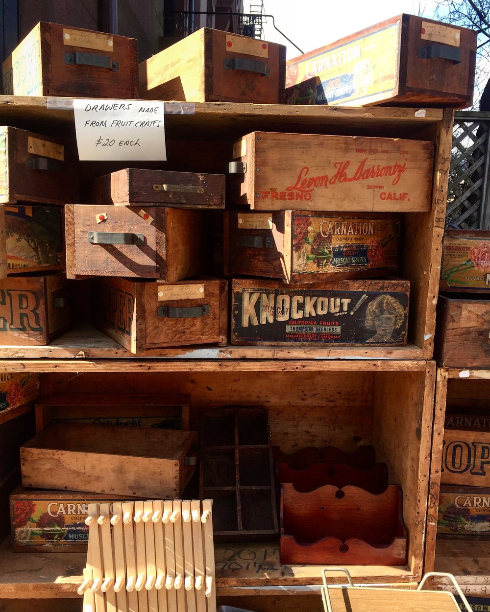 A love for vintage wooden boxes at a local thrift store