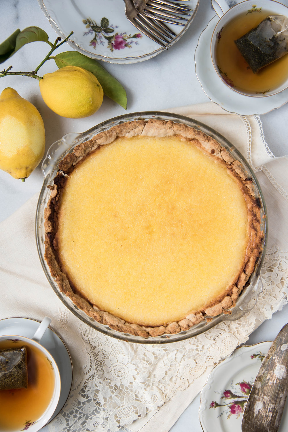 ROSE & IVY Journal Coconut Lemon Chess Pie