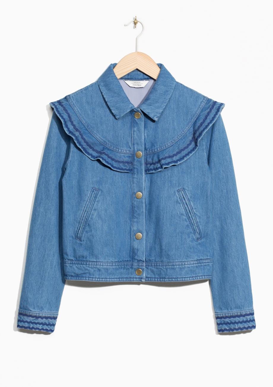 ROSE & IVY Journal Currently Loving Frilled Denim Jacket