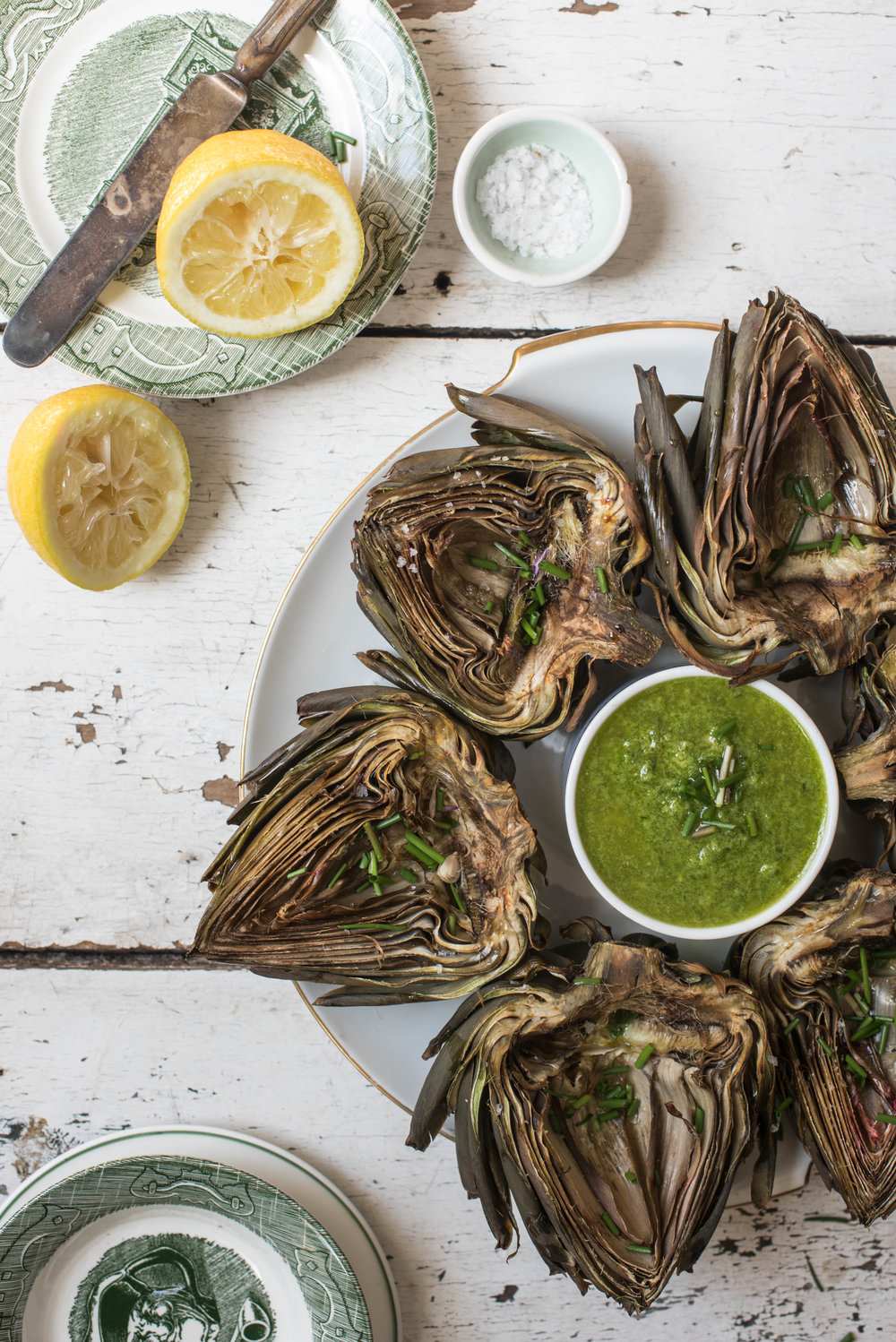ROSE & IVY Journal At the Market | Wild Garlic + Roasted Artichokes & Wild Garlic Vinaigrette