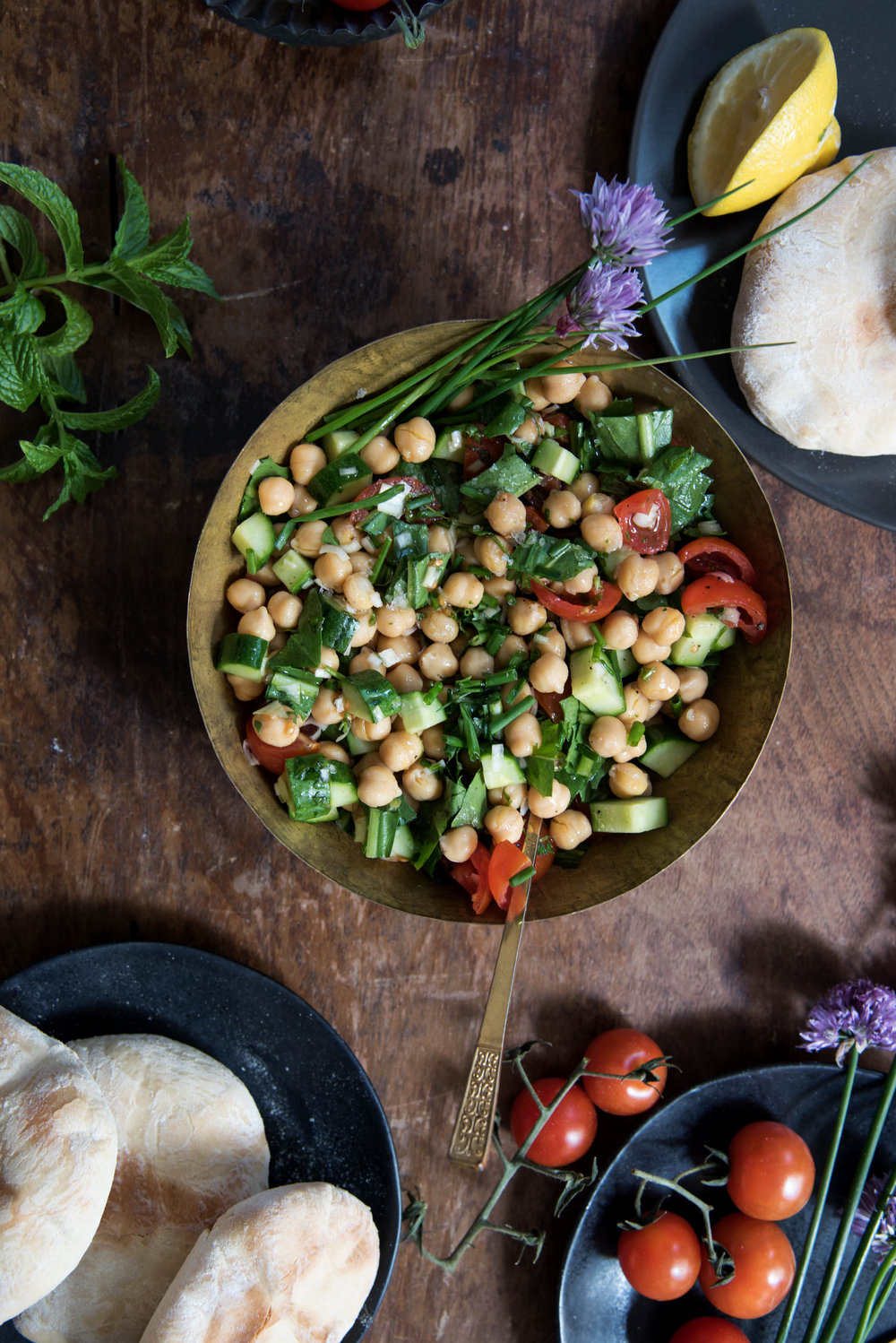ROSE & IVY Journal Middle Eastern Spread Chickpea Salad from The Palomar Cookbook