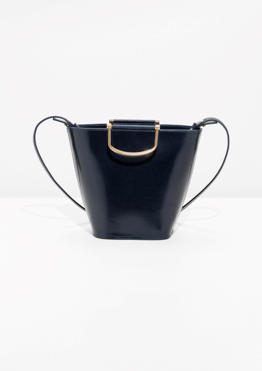 Currently Loving - & Other Stories Navy Bucket Bag