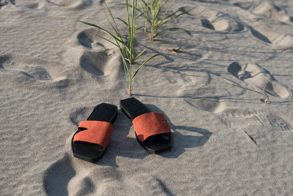 ROSE & IVY Journal Beach Wear Sandals Parme Marin