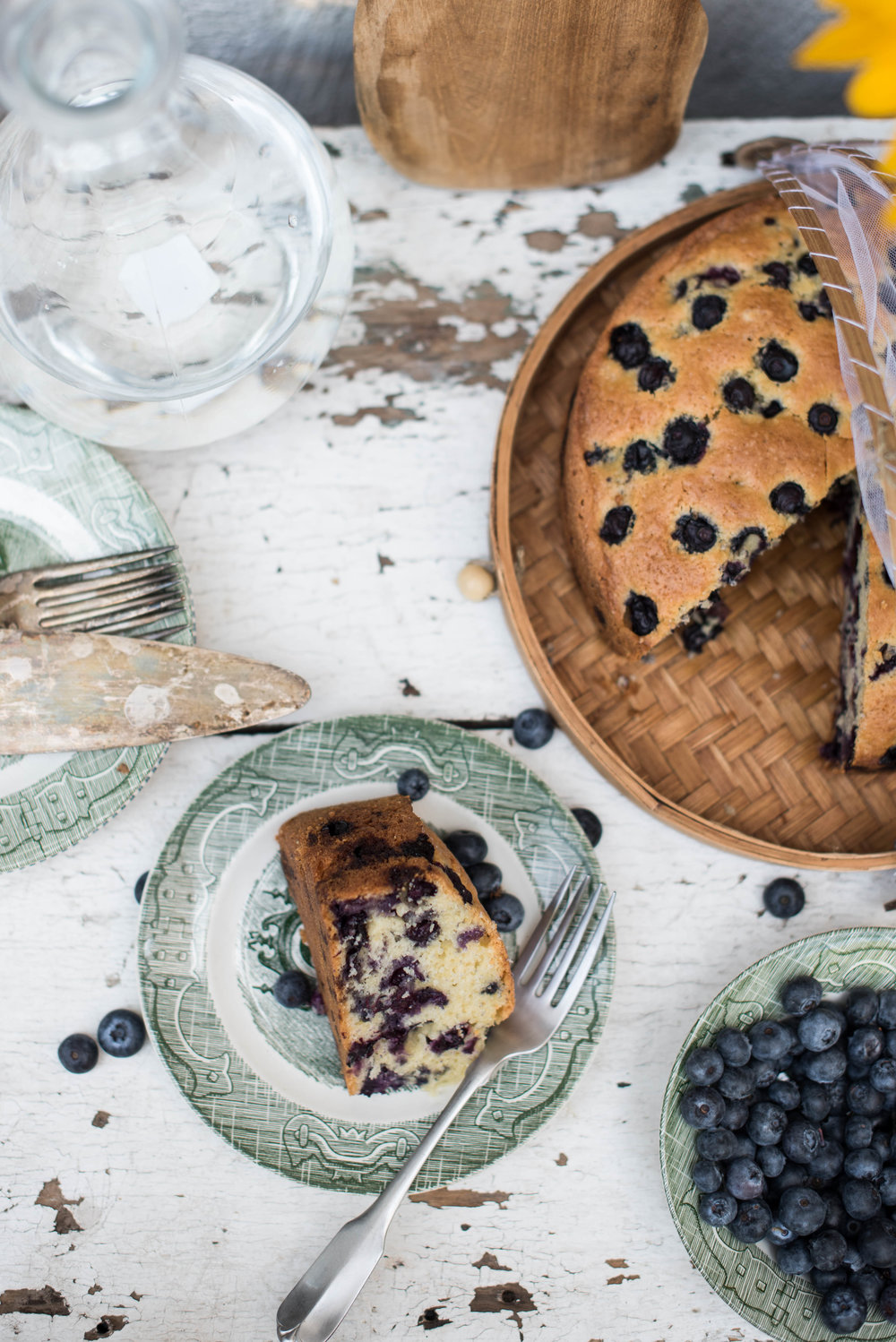 ROSE & IVY Journal At the Market Blueberries & Blueberry Olive Oil Cake