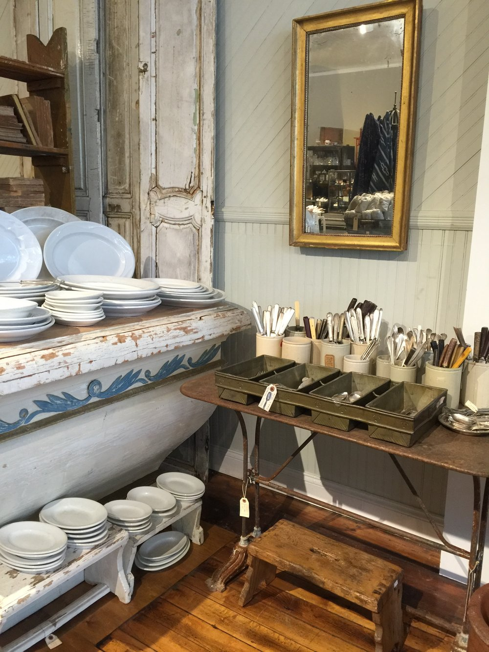 Red Chair Antiques's beautiful presentation of French silverware and Swedish pieces.